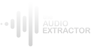 the audio extractor logo quarter A